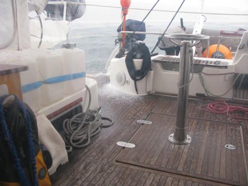 28 Granizo en el fondeo de Puerto Español